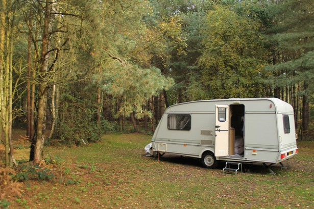 Caravan in the woods