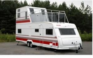Two story caravan